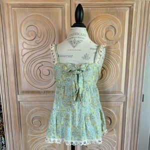 Super Cute Juicy Couture Crochet Trimmed Tank Sz M
